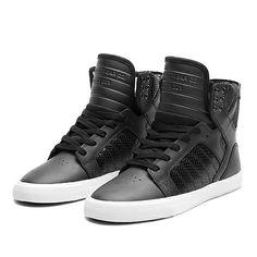 SUPRA WMNS SKYTOP | BLACK / BLACK - WHITE | Official SUPRA Footwear Site