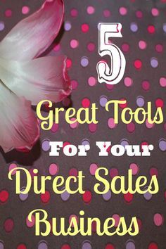 Here are 5 great tools that help me grow and run my direct sales business while saving me time and effort in the long run. I hope they help you too! #MLM #NetworkMarketing