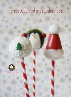 Weihnachts Cake Pops: Pinguine, Schneemänner, Santa Hütchen, Weihnachtsbäume und viele mehr!   niner bakes