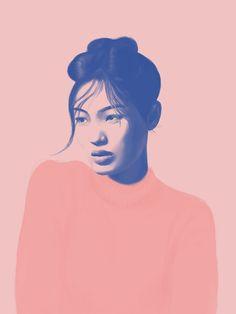 Pink portrait by polilovi