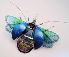Bugs made of computer components