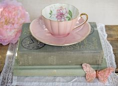 Vintage Shelley Pink Tea Cup and Saucer