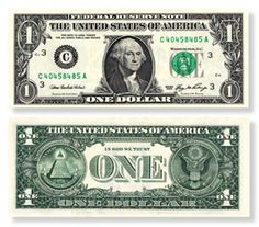 Symbols on American Money  Paper money has circulated in America at least as far back as colonial times. But how did American currency come to look the way it does? What do all the symbols on our money mean? Look at the image of perhaps the world's most instantly recognizable paper money — the $1 U.S. Federal Reserve note. What does it mean to you? Despite our familiarity with this particular currency note, many of us have never looked closely at its design and symbolism...