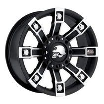 Pro Comp Alloy Wheels Part - Metal Mulisha Series with 6 on and 6 on 135 Bolt Pattern - Flat Black with Machining - - 4 Wheel Parts Rims For Cars, Rims And Tires, Wheels And Tires, Truck Rims, Truck Wheels, Metal Mulisha, Black Chrome Wheels, Pro Comp, Car Supplies