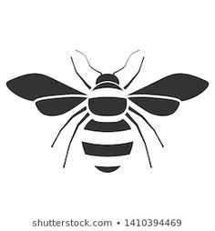 Bee Outline, Tattoo Outline, Bumble Bee Clipart, Honey Bee Drawing, Insect Clipart, Bee Icon, Cool Stencils, Butterfly Stencil, Bee Images