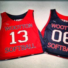 Team softball pinnie from Lightning Wear®. Made to order custom jerseys in Maryland USA.