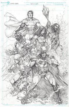 Justice League by Ardian Syaf - Bücher Comic Book Pages, Comic Book Artists, Comic Book Characters, Comic Artist, Comic Books Art, Batman Kunst, Batman Art, Marvel Art, Gotham Batman