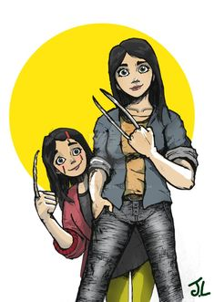 Wolverine (Laura Kinney a.k.a X-23) and Gabby by james2work on DeviantArt