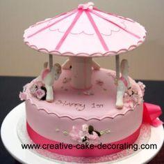carousel cake tutorial