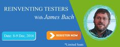"""QA InfoTech and Satisfice jointly conducts a workshop by James Bach on """"Re-Inventing Testers"""" - We are hosting a 3 day workshop for a limited set of 40 people by James Bach on """"Re-Inventing Testers"""" in Noida, in December 2016. For Registration & Details, visit - http://workshop.qainfotech.com/"""