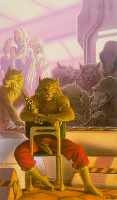 Michael Whelan, Chanur concept Great depiction of characters, drama in the books...