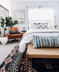 Living Room Decoration and Design Ideas - Ribbons & Stars Boho Chic Bedroom, Cozy Bedroom, Trendy Bedroom, Bedroom Decor, Bedroom Ideas, Bedroom Inspiration, Master Bedroom, Bedroom Inspo, Master Bath
