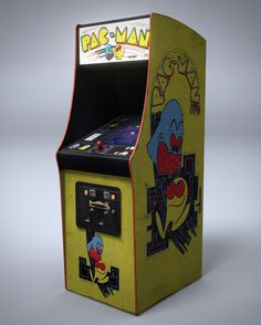 Pac-Man Arcade Machine by nocomplys Pac Man, Arcade Retro, Sonic Dash, Dragon's Lair, Dollhouse Toys, Retro Images, Arcade Machine, Minecraft Furniture, Arcade Games