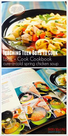 Teaching Teen Boys How to Cook with Rachael Ray's Look + Cook Cookbook (and a giveaway!)