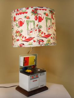 1920's Original German Child Stove Lamp  Has all the toy accessories for that perfect dinner.