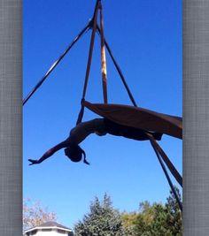Layout reach aerial silks