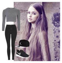 """""""Untitled #3"""" by emily-barnard-1 on Polyvore featuring Glamorous, Topshop, NIKE, women's clothing, women, female, woman, misses and juniors"""