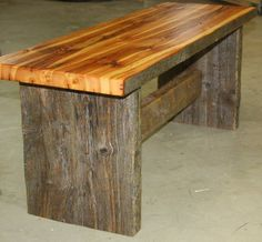 Boot Bench by Tom's Custom Woodworking Inc./Wine 2 Wood