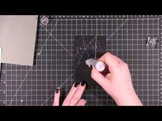 Glittery Spider Web Card