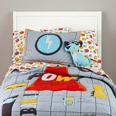 Super Hero Bedding.