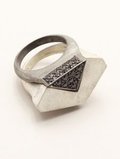 Silver Deconstruct Ring | Roula Dfouni | Shop | NOT JUST A LABEL