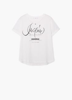 Camiseta algodón estampada - Camisetas de Mujer | MANGO Spring Summer 2018, Apparel Design, Graphic Tees, T Shirt, Dress Up, Mango France, Prints, Mens Tops, Clothes