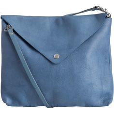 PIECES Leather Cross Over Bag (145 MAD) ❤ liked on Polyvore featuring bags, handbags, shoulder bags, purses, accessories, faded blue, genuine leather shoulder bag, blue shoulder bag, genuine leather handbags and genuine leather purse