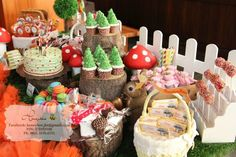 Woodland themed party - sweet corner