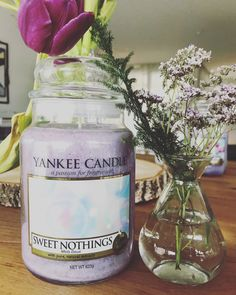By LOWELLGREY'S Sweet Nothings, Mason Jars, Candles, Pure Products, Sweet Words, Home Decor Accessories, Packaging, Canning Jars, Pillar Candles