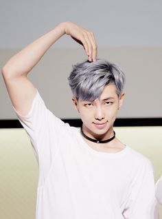 Rap Monster. His hair looks amazing here ^-^