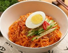 Korean Food | Bibim Guksu | Sweet & Spicy Cold Noodles