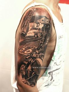 Arm tattoo. BMW boxer