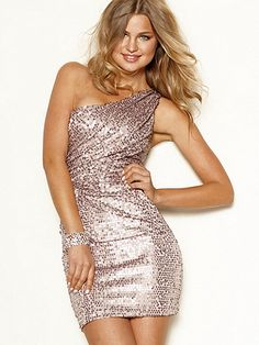 I love this One-Shoulder Sequin Dress from Frederick's of Hollywood!
