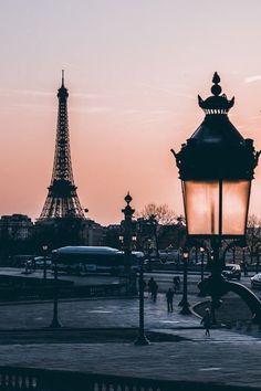 Paris, Eiffel Tower sunset