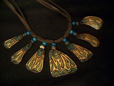 Water Droplet Gourd Necklace by praisinart on Etsy, $48.00