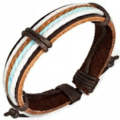 Leren surf armband K618   LEREN (surf) ARMBANDEN   Idhuna Jewels - Fashion sieraden