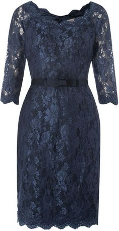 Anoushka G Martha Blue Lace Dress