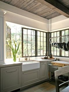 This is what I want to do in my kitchen. Window wall!