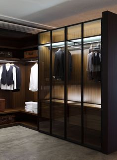 Porro factory showroom - Cantu Italy 2013. 'STORAGE' closet systems by Piero Lissoni,