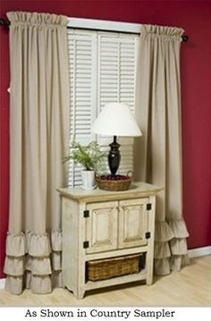 Gypsy Curtains, Ruffle Curtains, Vintage Curtains, Window Curtains, Curtain Panels, Farmhouse Style Curtains, Country Curtains, Farmhouse Decor, Curtain Patterns