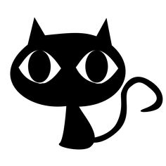 Black Cat Clip Art With Big Eyes - GuhPix | GuhPix