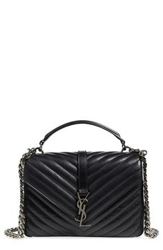 Saint Laurent  Medium Monogram  Quilted Leather Shoulder Bag Ysl Crossbody  Bag d5f4bc779cd81