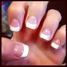 #cute #diamond #nails #acrylic #french