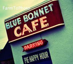 Art  Photography  Nature  Notecard  greeting card  photography  original art  handmade  bluebonnet  bluebonnet cafe texas  marble falls  texas hill country  diner  cafe  pie