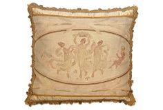 2nd Floor / On Chair In The Chanell Bedroom / Pillow w/ Antique  Muses Aubusson on OneKingsLane.com