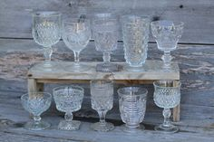 Vintage Glassware from girls at Folklore