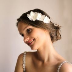 Hydrangea Hair Piece Bridal Hair Accessory Hydrangea by Florentes