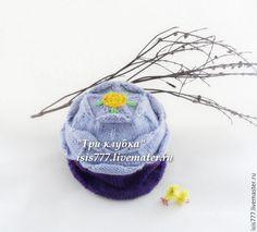 """Купить Шапочка для девочки """"Я спряталась в цветок"""" - фиолетовый, рисунок, 1 апреля 2017"""