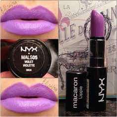 Nyx, i think im too dark for this color. Such a pretty color my fave Purple Lipstick, Lipstick Colors, Lip Colors, Matte Lipstick, Kiss Makeup, Drugstore Makeup, Beauty Makeup, Beauty Tips, Makeup Is Life