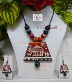 Wooden Jewelry, Metal Jewelry, Diy Jewelry, Jewelry Making, Textile Jewelry, Fabric Jewelry, Handmade Jewelry Designs, Handcrafted Jewelry, Teracotta Jewellery